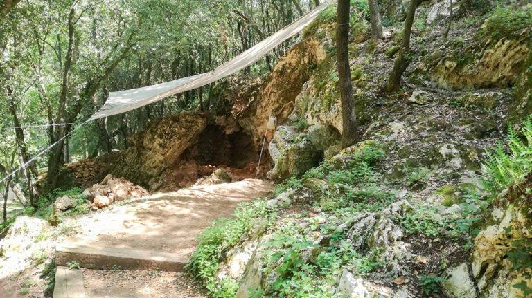 Serinyà Prehistoric Cave Park, Mollet I cave excavation