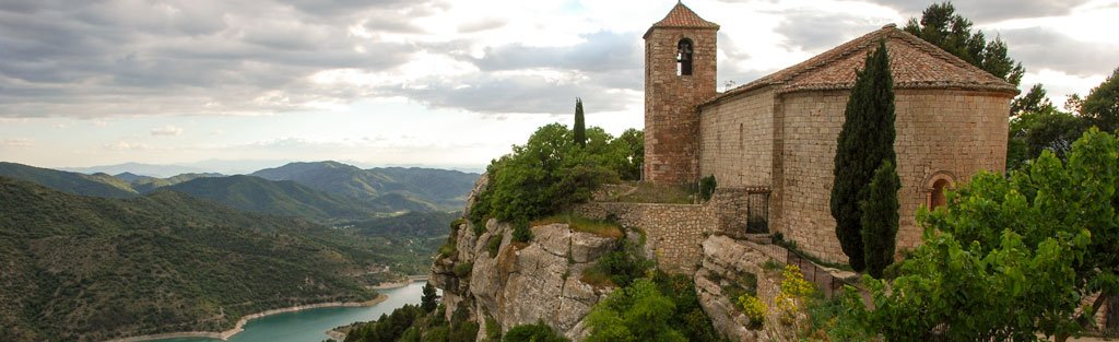 Santa Maria church in the hilltop village of Siurana, Priorat. Romanesque church built 12th-13th AD.