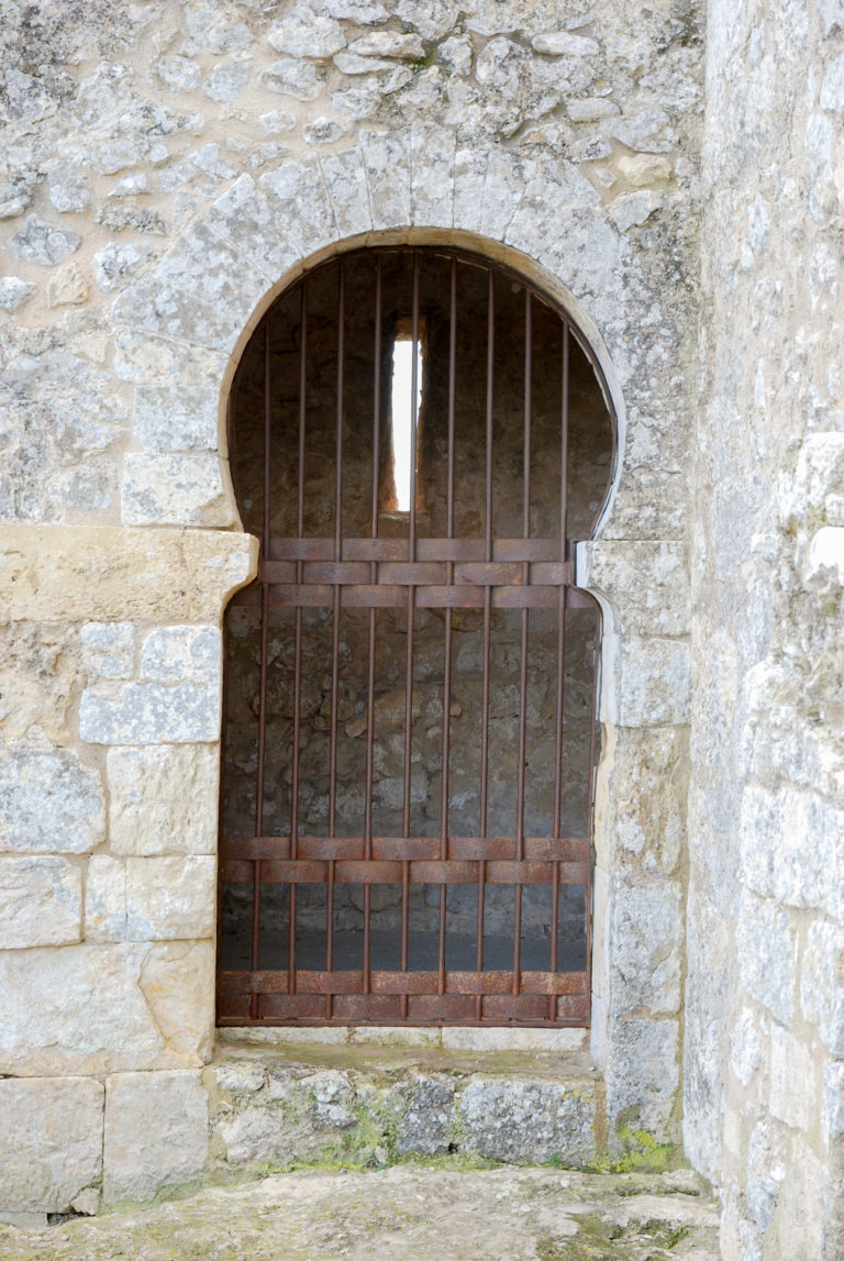 Mozarabic-type, pre-Romanesque church (10th century) with horseshoe arch, Olèrdola monumental complex