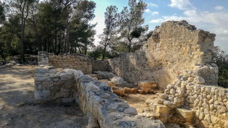 Capella de Santa Maria, (Saint Mary's Chapel) (10th-12th century), el Pla dels Albats, Olèrdola monumental complex