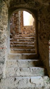 Montsoriu Castle, gothic staircase