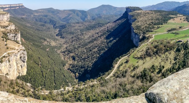 Mirador dels Bassis (Viewing point) along the Medieval Rupit Pyrenees Foothills Guided Hike trail