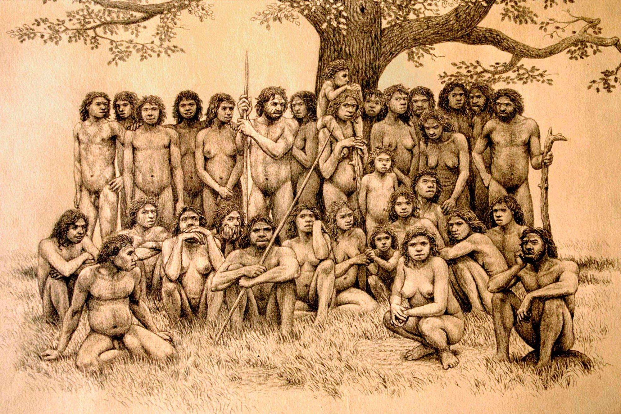 Homo heidelbergensis group, Atapuerca, by artist Mauricio Antón. From http://www.nationalgeographic.com.es/historia/grandes-reportajes/atapuerca-la-cunade-los-humanos-mas-antiguos-de-europa_7021/3