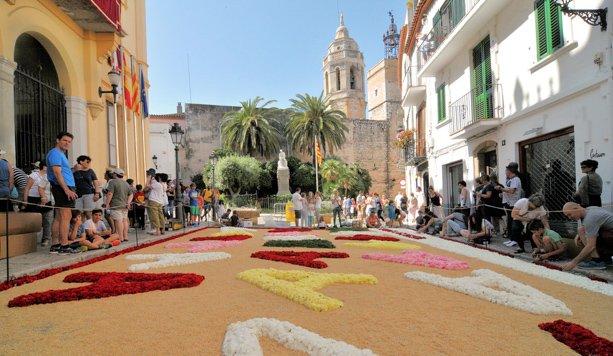 Flowers Corpus Christi Sitges