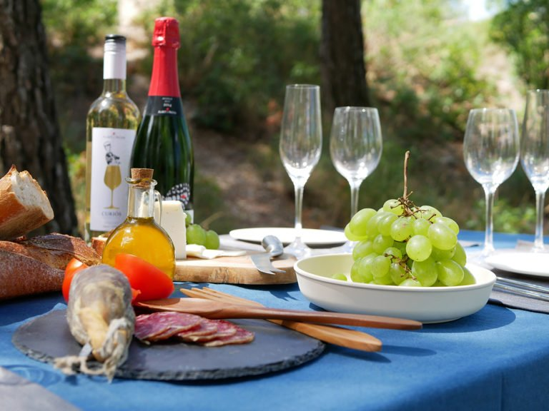 Gourmet picnic, Prades Mountain, Barcelona, Spain