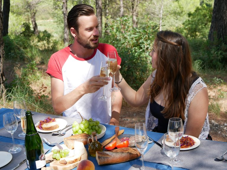 Gourmet picnic, local wines, Costa Brava, Spain