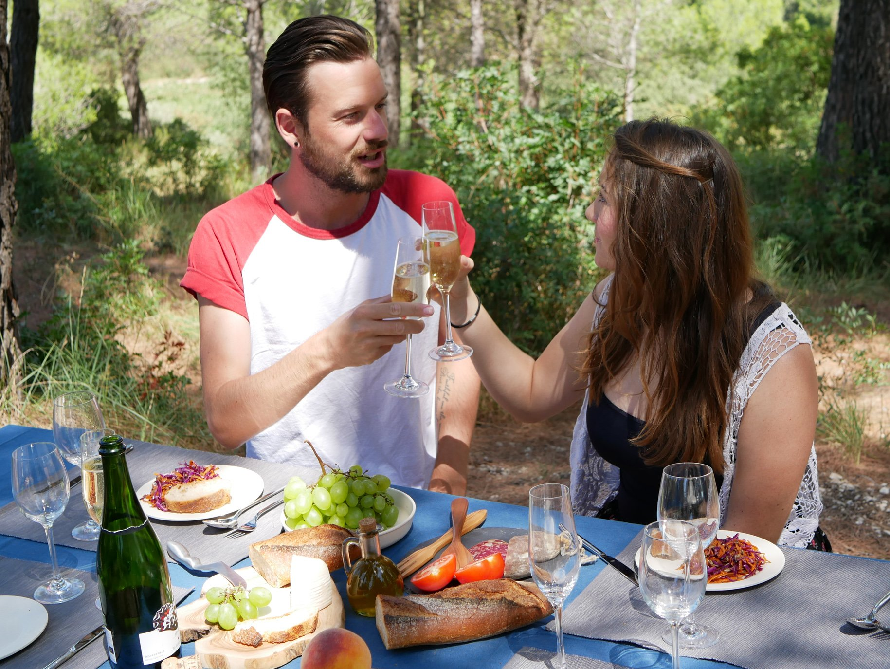 Gourmet picnic, local wines, Barcelona, Spain