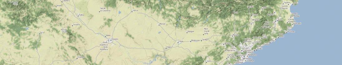 map Catalonia segment